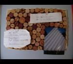 Мини-доска для заметок и записей из пробок